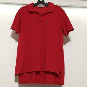 Vintage Izod Lacoste Red Polo Shirt Large